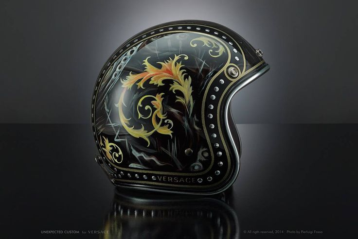 Versace custom helmet