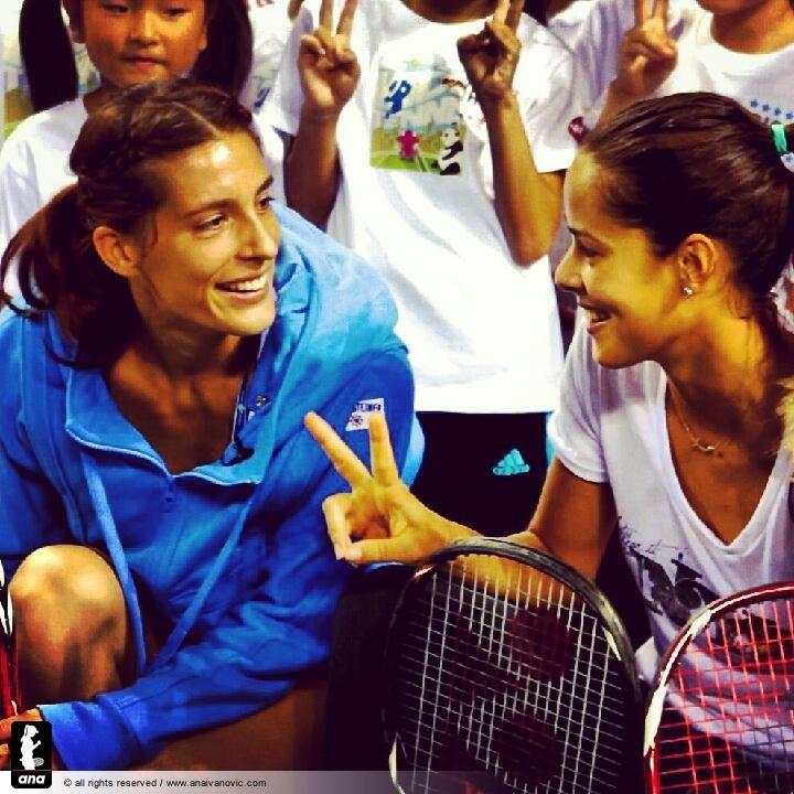 Ana with Andrea Petkovic :)