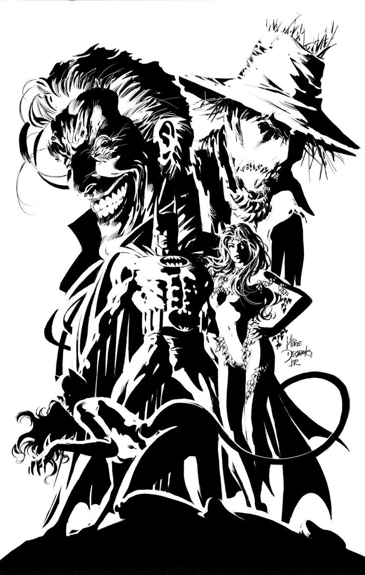 Batman and Rogues - by Mike Deodato, Jr.