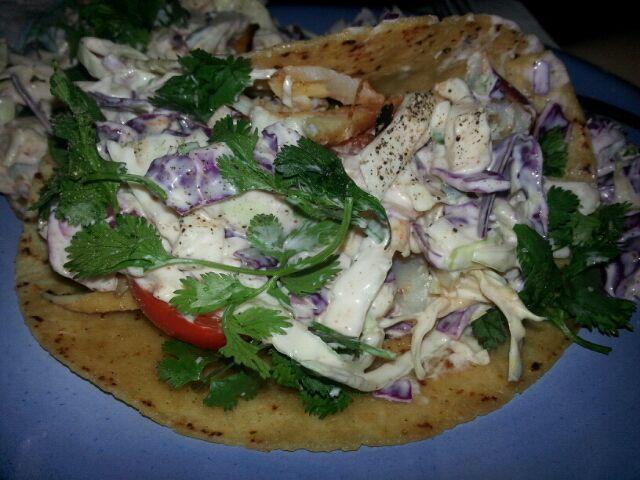 Fish Taco's w/ slaw