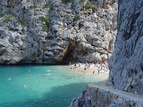 Torrent de Pareis , excursions by boat from Port Soller to Sa Calobra and then walking 10 minuts.