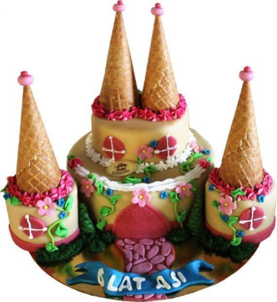 Tort Zamek z niespodzinką