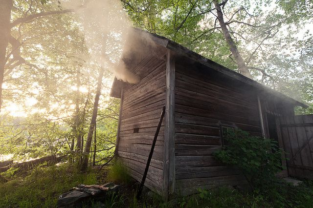 Traditional Finnish smoke sauna