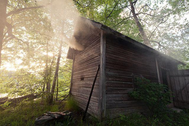 Traditional Finnish smoke sauna