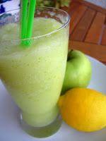 Cocinando entre Olivos: Granizado de manzana verde y limón. Paso a paso