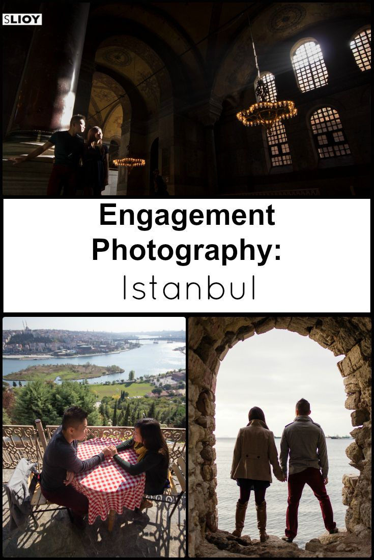 Vacation and Engagement photography gallery for a young American couple visiting the city of Istanbul, Turkey. A good example of how an exotic vacation can make an interesting and unusual engagement photo shoot location.