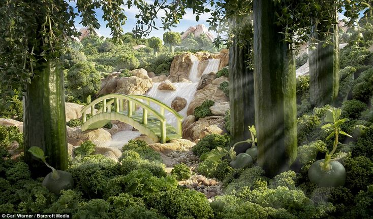 Cucumber Bridge: By contrast you can go some way towards getting your five-a-day here, with cucumbers, lettuce and a broccoli forest contrib...
