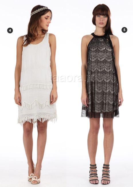 Robes années 20, noire (droite)  Année Charleston  Pinterest ...