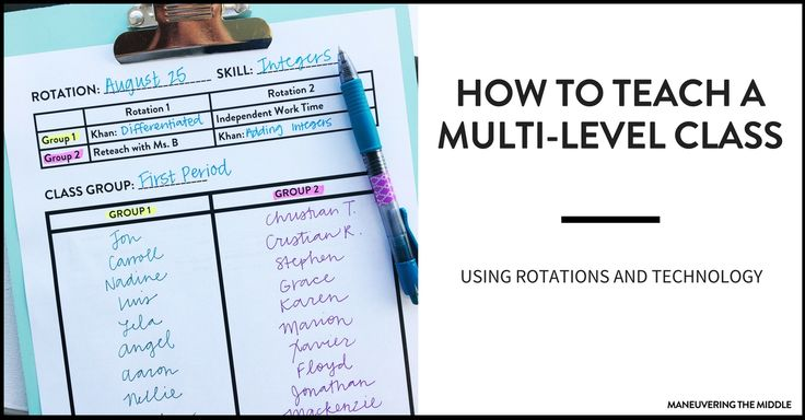 Students come to us on all different levels, which can be a challenge. 3 great ideas on how to teach a multi-level class.
