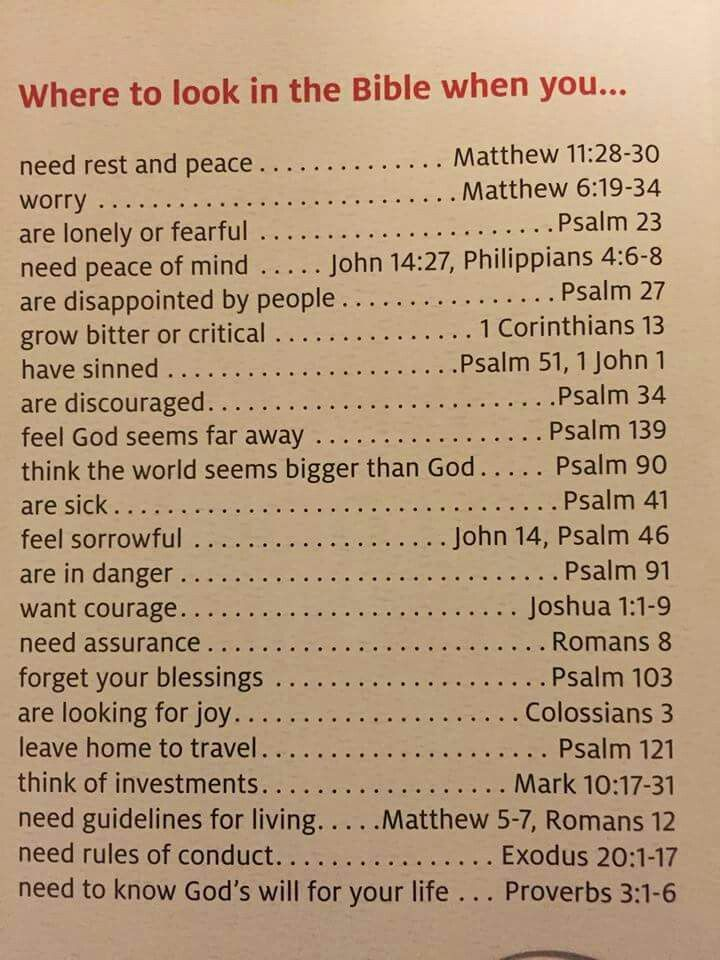 Emergency numbers of the bible. Scripture and prayer