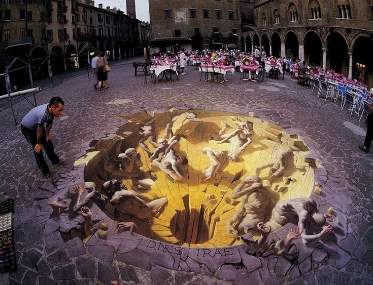 Some Sidewalk art from artist Kurt Wenner