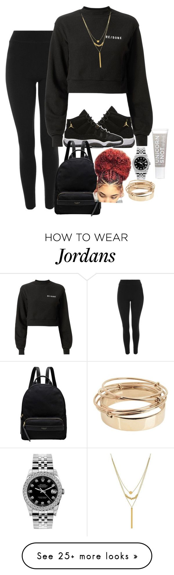 """""""⏹️"""" by colourmejayy on Polyvore featuring Topshop, NIKE, RE/DONE, Radley, Lord & Taylor, Rolex and Valentino"""