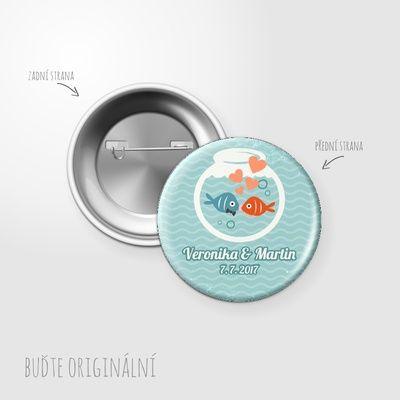 Svatební placka, button - 154