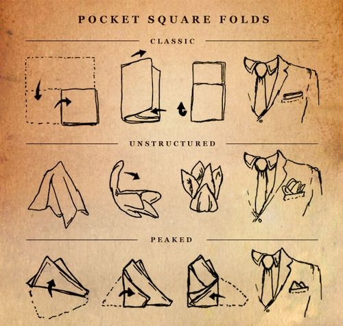 How to fold a Pocket Square #pocketsquare #classic