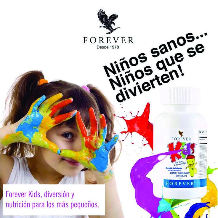 Mantén la salud de tus hijos, proveyéndoles los minerales y nutrientes que ellos necesitan con las mejores tabletas multivitaminicas masticables y de rico sabor Forever Kids, diversión y nutrición para sus pequeños.