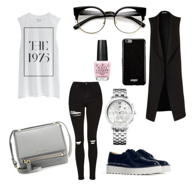 """""""Givenchy yourself the pleasure to love fashion"""" by voicuandrada on Polyvore featuring Topshop, Zara, Givenchy, OPI and Tommy Hilfiger"""