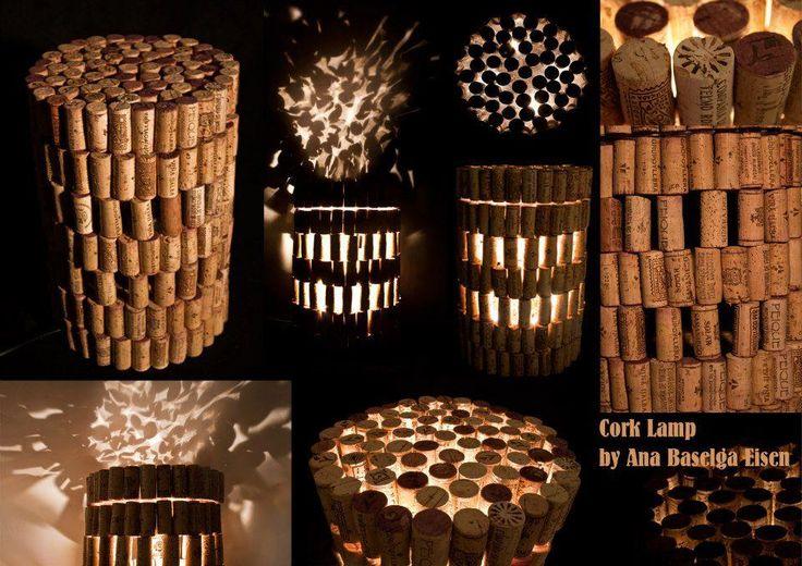 lamparas de corcho