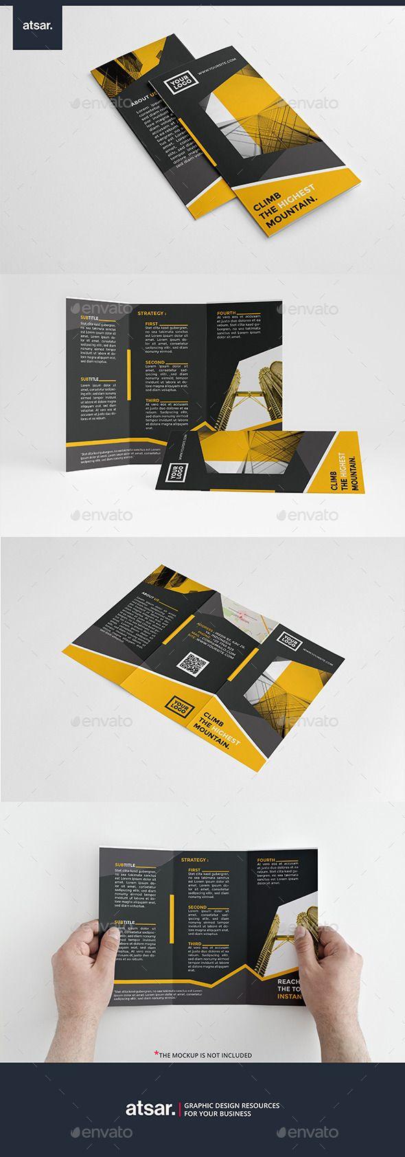 Modern Yellow Trifold Brochure Template #design #broschüre Download: http://graphicriver.net/item/modern-yellow-trifold/12360750?ref=ksioks