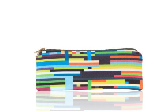 Pencil Case  Asymmetrical Bliss Series  7.5 by 3 by tgbgprintingco