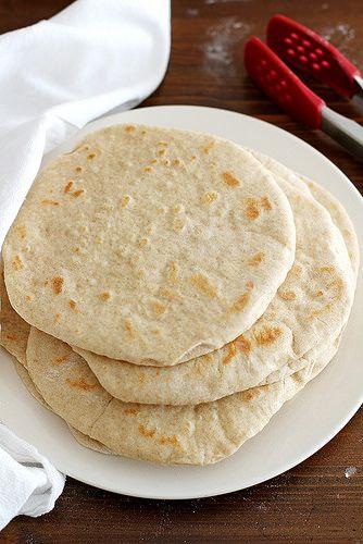 Homemade Soft Flatbread   girlversusdough.com by girlversusdough, via Flickr