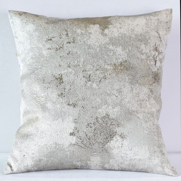 Silver Metallic Forest Pillow Nuage Designs Forest Pillow Metallic Pillow Gold Throw Pillows