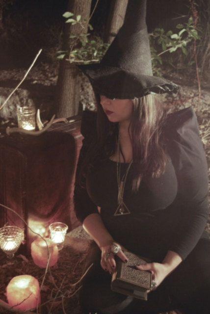 Realistic Black Felt Witch Hat Outlander Celtic Scottish