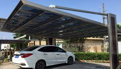 SUNSHIELD Carport - Alu Carport with PC Panel - Polycarbonate Carport for Sale - Aluminum Carport Awnings - Heat Insulation