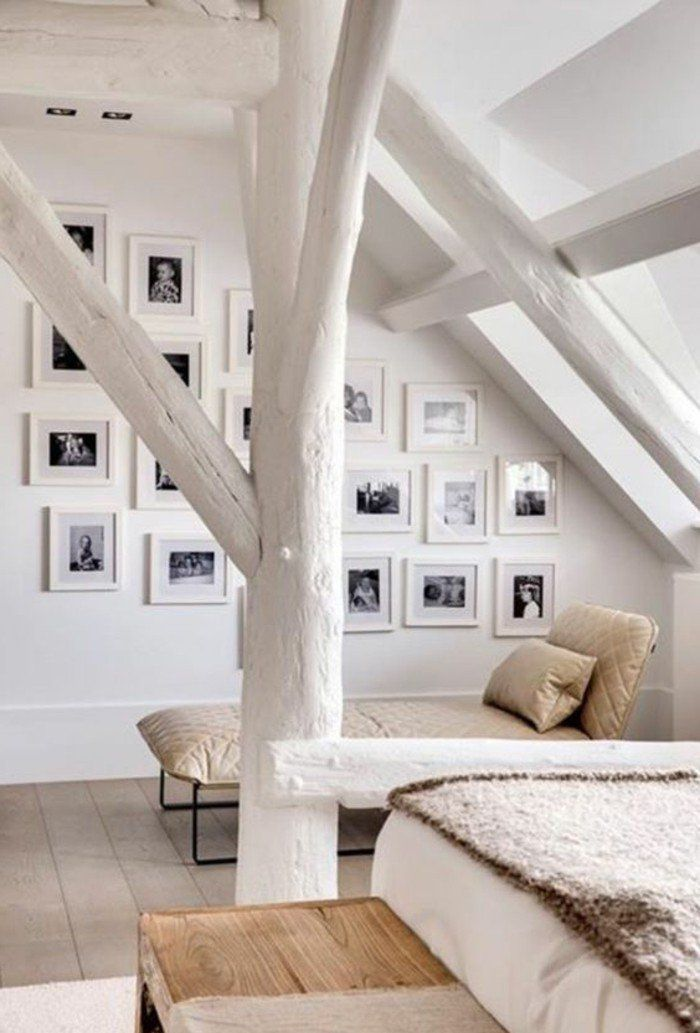 chambre mansardée chambres dans les combles interieur scandinaf sol en planchers