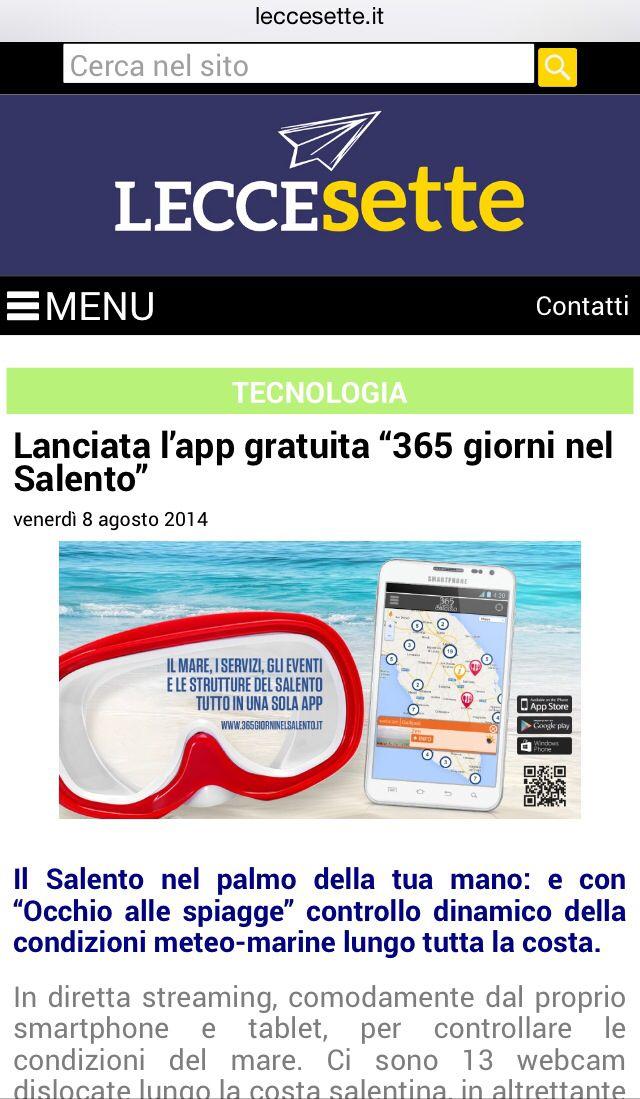 LecceSette per 365 giorni nel Salento App