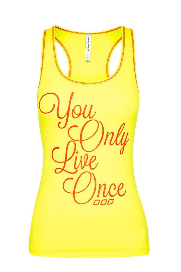 You Only Live Once Tank xx #LJWISHLIST