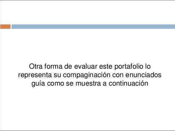 Portafolio de Evidencias - Un Ejemplo Práctico   #Presentación #Educación