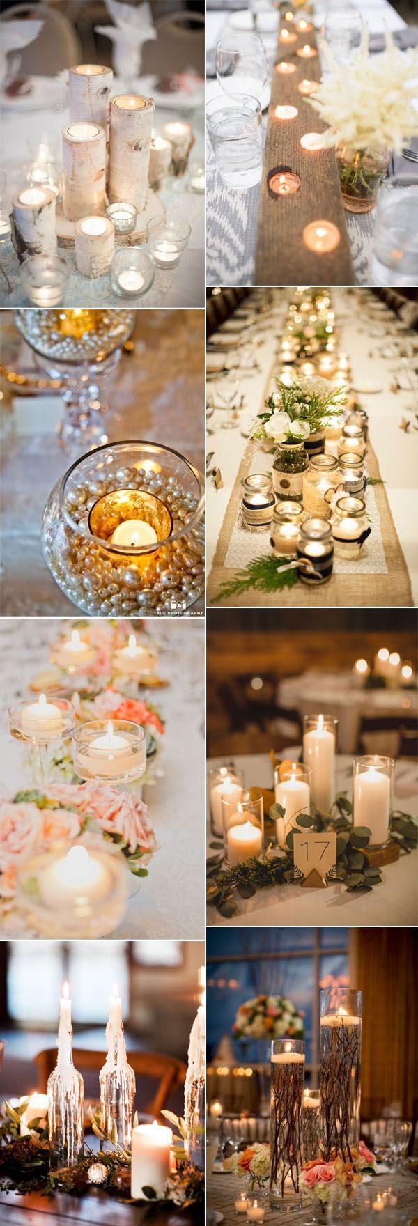 creative candlelights wedding centerpieces inspiration
