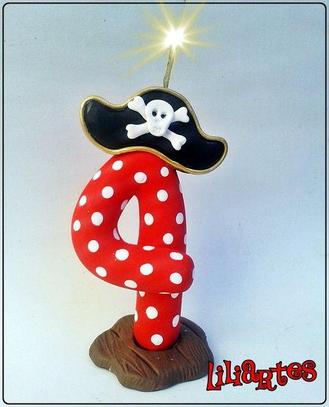 Vela Pirata 13cm
