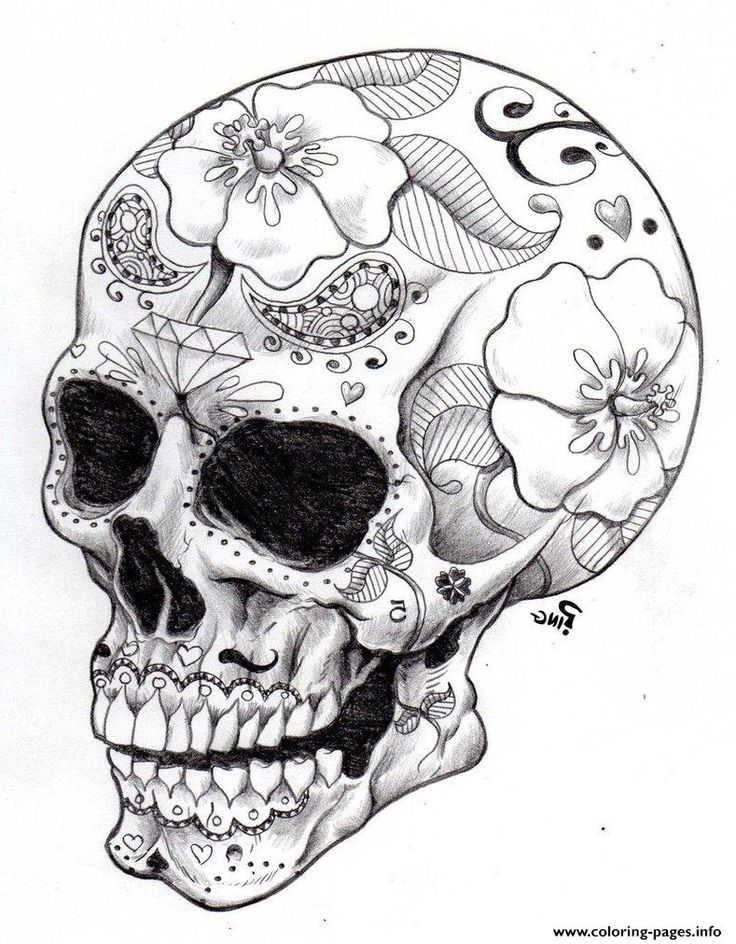 Coloring Pages For Adults Skull : 208 best sugar skulls to color and create images on pinterest