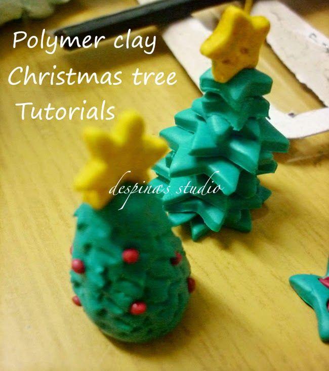 Polymer clay Christmas tree tutorials