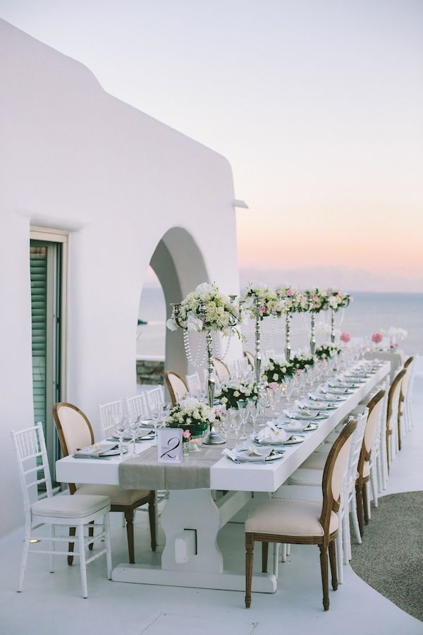 Wedding in Mykonos Island, Greece. Destination weddings are always something to consider.