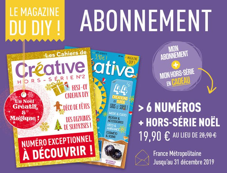 Jahresendangebot: Das Abonnement für 6 Ausgaben für die Metropolregion Frankreich + HS kostet 19,90 Euro   – DIY