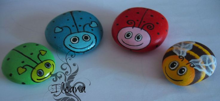 DIY Painted Stone Ladybug -this could be a great housewarming party craft idea. Description from pinterest.com. I searched for this on bing.com/images