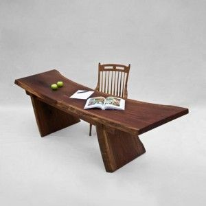 Wooden Slab Desk, Simple, Rustic Log Desk  Http://executiveofficespaceforyou.com