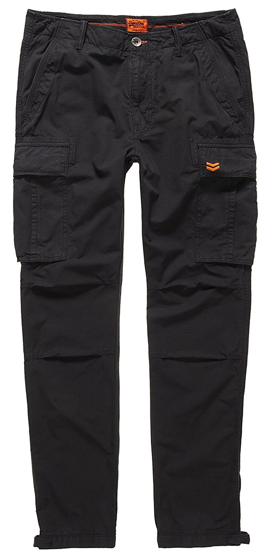 SUPERDRY Rookie Ripstop Cargo, Pantalón para Hombre, Negro (City Blackxph), 2XL: Amazon.es: Ropa y accesorios