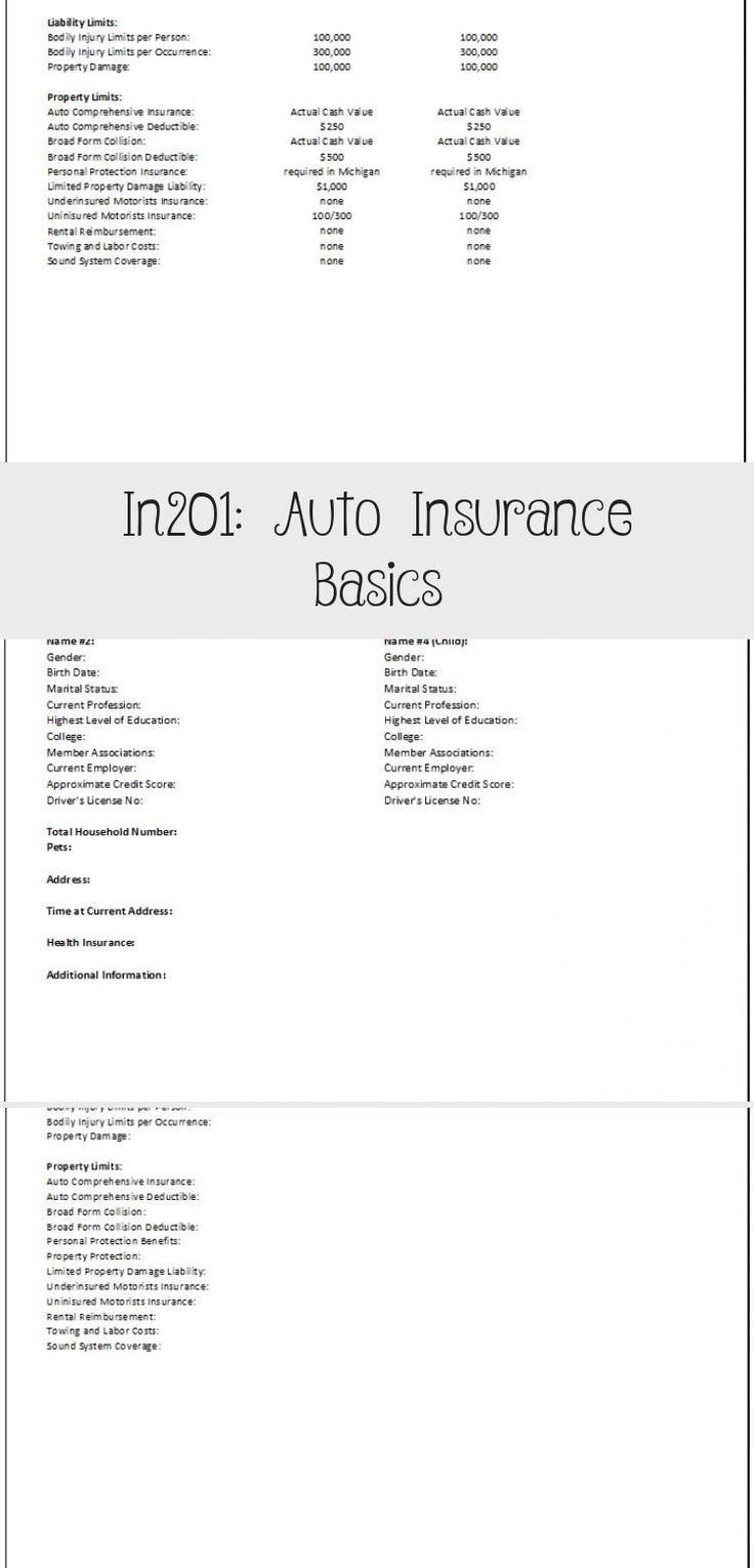 In201 Auto Insurance Basics Wholelifeinsurance