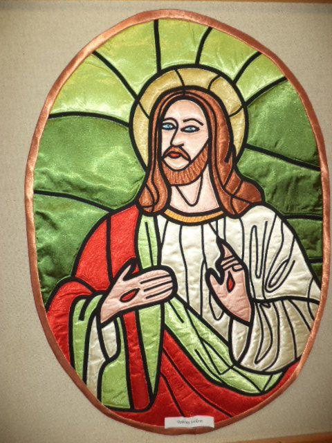 József,szaténból készült falikép.