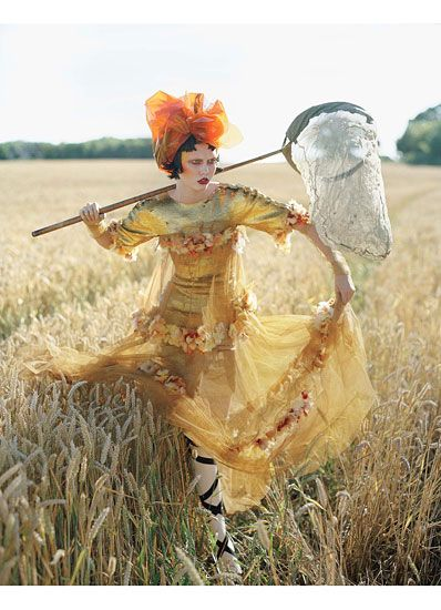 Karlie Kloss in Vogue India. November, 2010. Photo by Tim Walker