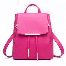 2017 Fashion Backpacks Women PU Leather Schoolbag Girls Female Candy Colors Travel Shoulder Bag BackBags Mochila(China (Mainland))