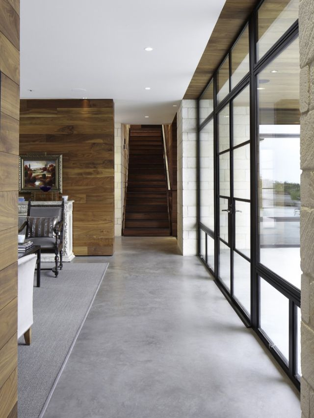Large Windows Polished Concrete Floors Concrete Floors