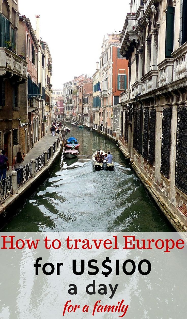 Our easy tips for travelling Europe with only US$100 a day for a family of 4 - and without feeling like you are missing out http://www.wheressharon.com/europe-with-kids/travel-europe-less-90-euros-day-family/