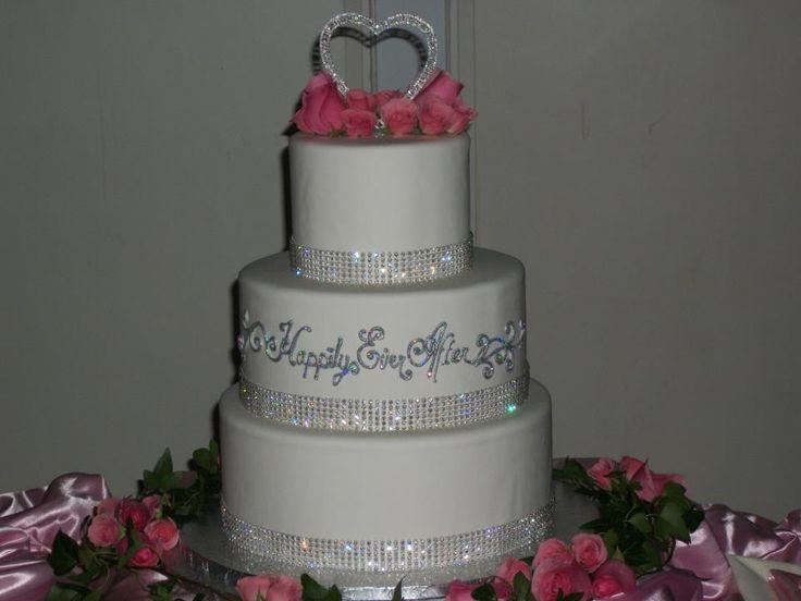 Disney Wedding Cake...simple, elegance! #disney #wedding # ...