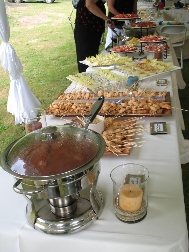 Wedding buffet: no gluten, no cow dairy, no soy