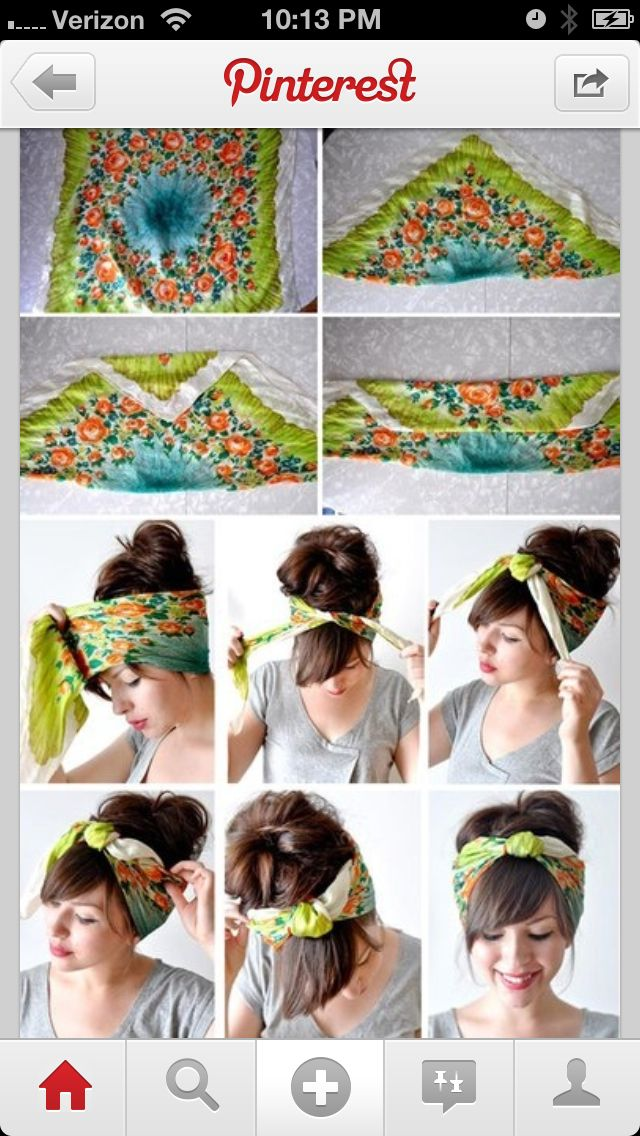 Headbands. My mom has a million of these silk scarves. I'll have to snag one on my next trip home ;)
