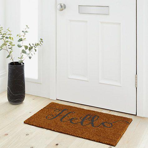 Buy John Lewis Hello Door Mat, Natural Online at johnlewis.com